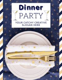 DINNER PARTY EVENT ad FLYER TEMPLATE Volante (Carta US)