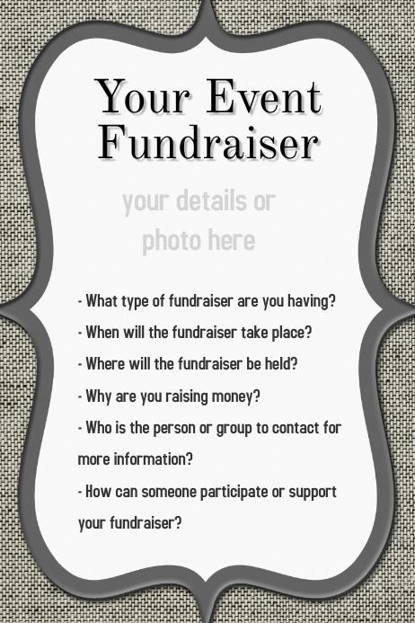 dinner reception dance event fundraiser flyer invitation