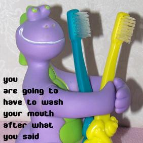 dino toothbrush