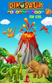 dinosaur coloring book template
