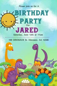 Dinosaur Grafika na Pinterest template