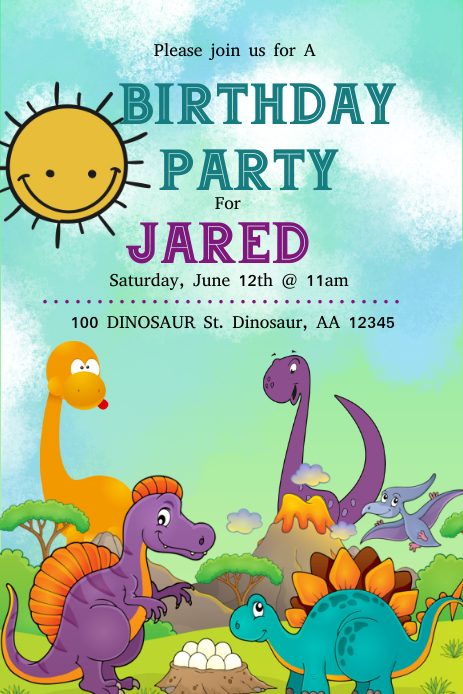 Dinosaur Pinterest-afbeelding template
