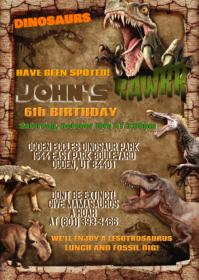 Dinosaur Party Birthday Invitation 01