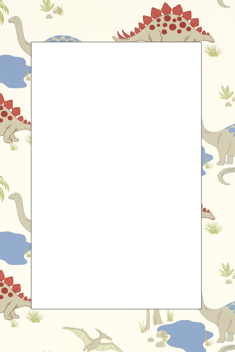 dinosaur party prop frame template postermywall