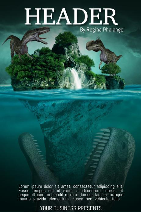 Dinosaurus Island Book Cover Movie Film Template