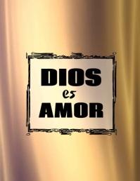 Dios es Amor frase de fe y esperanza volante