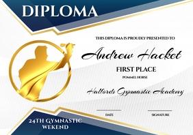 Diploma A4 template