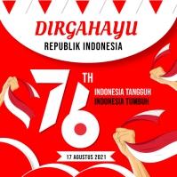 Dirgahayu Republi Indonesia Instagram Post template