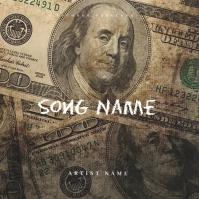 DIRTY MONEY Mixtape Cover Art Template