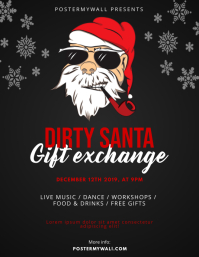 Dirty Santa Gift Exchange Flyer Design