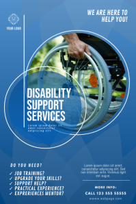 Disability support service flyer design