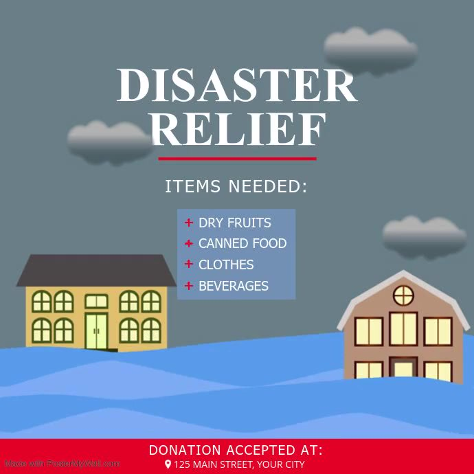 Disaster Relief Awareness Square Video