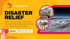 Disaster Relief Digital Display Video template