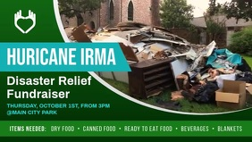Disaster Relief Facebook Cover Video template