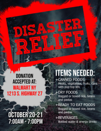 Disaster Relief Flyer