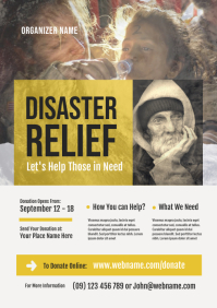 Disaster Relief Flyer Template
