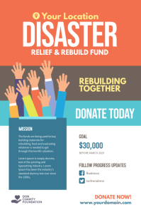 Disaster Relief Fundraiser Flyer Poster