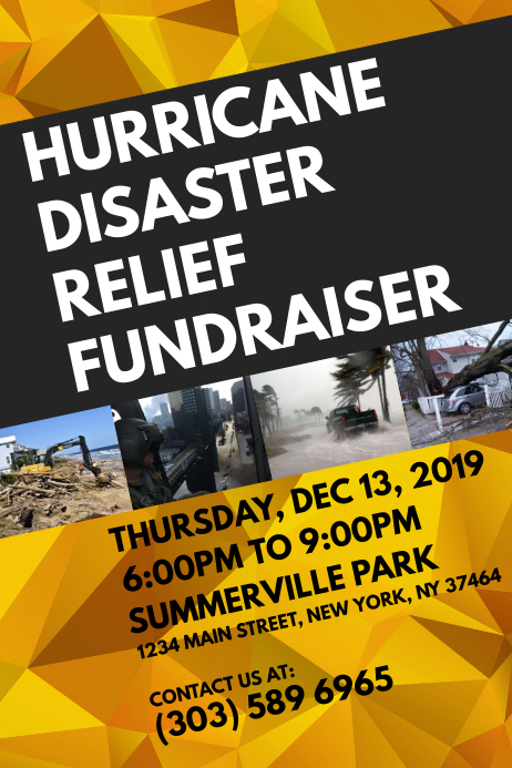 Disaster Relief Fundraiser Poster