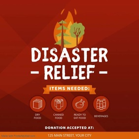 Disaster Relief Fundraising Square Video