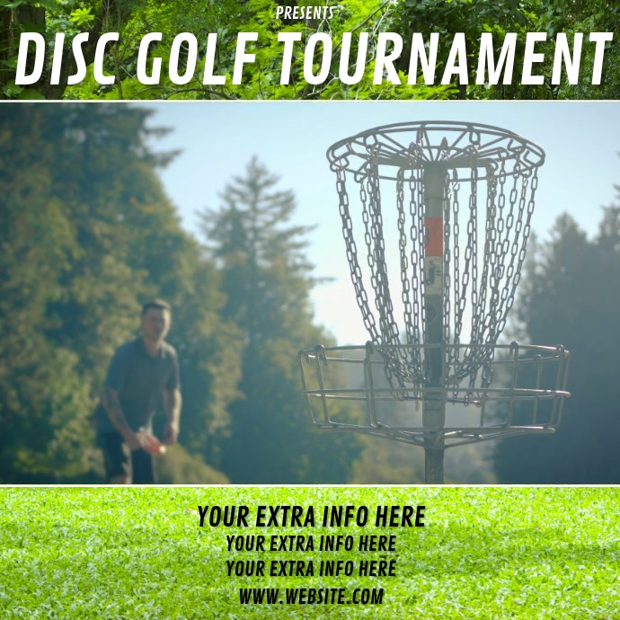 DISC GOLF TOURNAMENT Instagram Post template