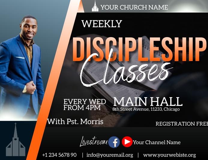 discipleship classes flyer 传单(美国信函) template