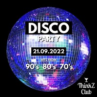 Disco Ball Party 80's 90's 70's Night Club As