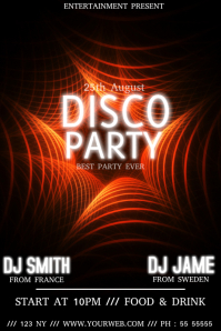 Disco club event flyer template