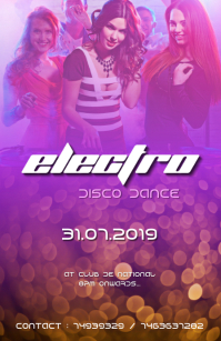 Disco electro Party flyer 2019