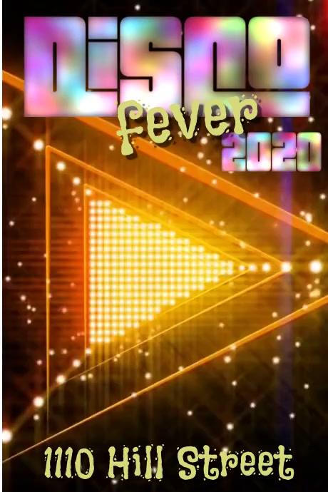 Disco Fever Plakkaat template