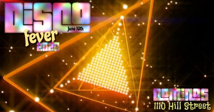 Disco Fever Digital ปกอีเวนต์ Facebook template