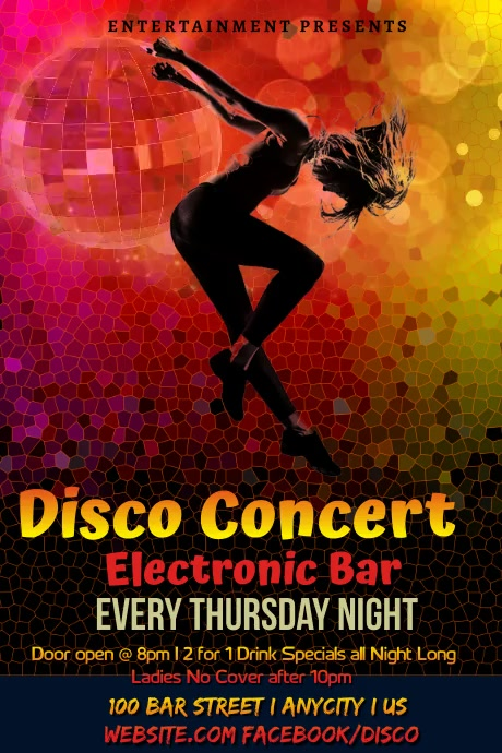 Disco Karaoke Night Poster Template | Postermywall