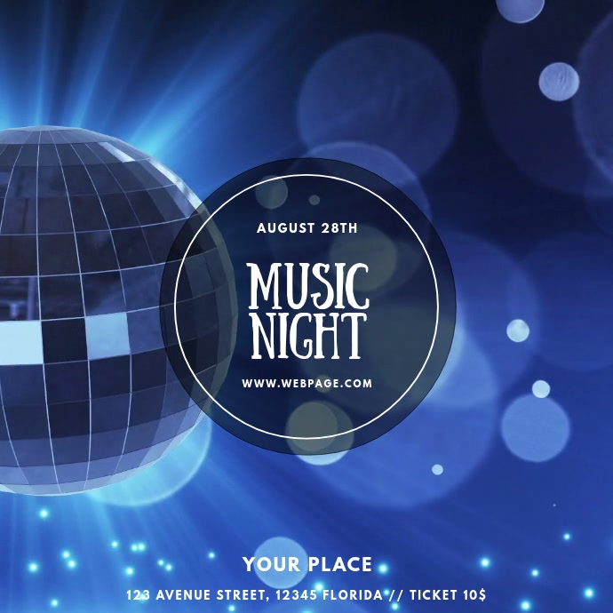 Disco Music Night Party Dj video template