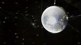 Disco Music Zoom Virtual Background Video Presentation (16:9) template