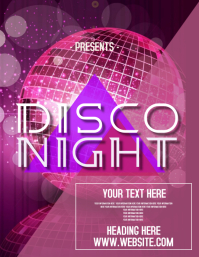 disco NIGHT PARTY AD FLYERS