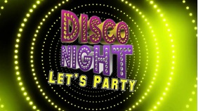 Disco night video Flyer Digitalt display (16:9) template