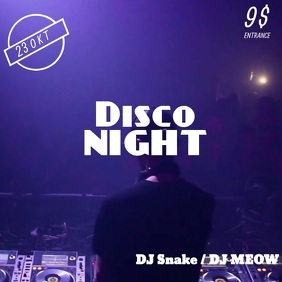 Disco Night Video Instagram Post Template Instagram-opslag