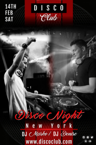 disco night1 Poster template
