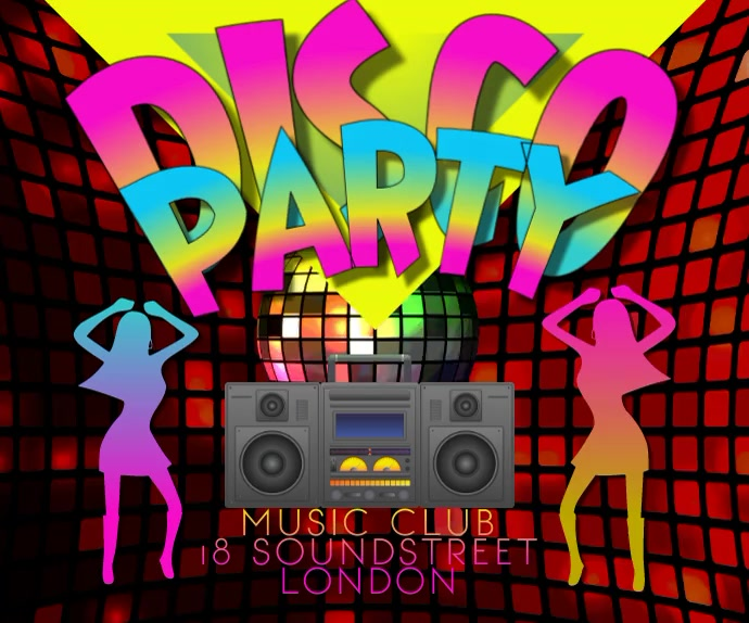 DISCO PARTY 2 VIDEO 2021 Large Rectangle template