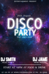 Disco party club event flyer template