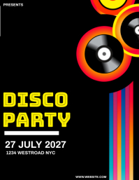 DISCO PARTY Flyer Template 传单(美国信函)