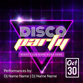 Disco Party Instagram post