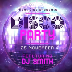 Disco Party Instagram Video Template