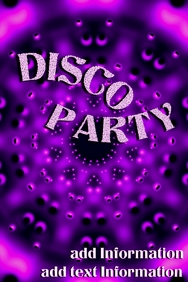 DISCO party - pink & purple