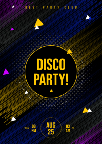 DISCO PARTY POSTER