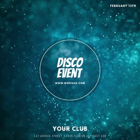 Disco Party Template