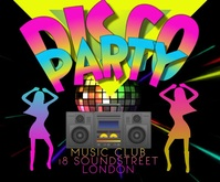 DISCO PARTY VIDEO 2021 Large Rectangle template
