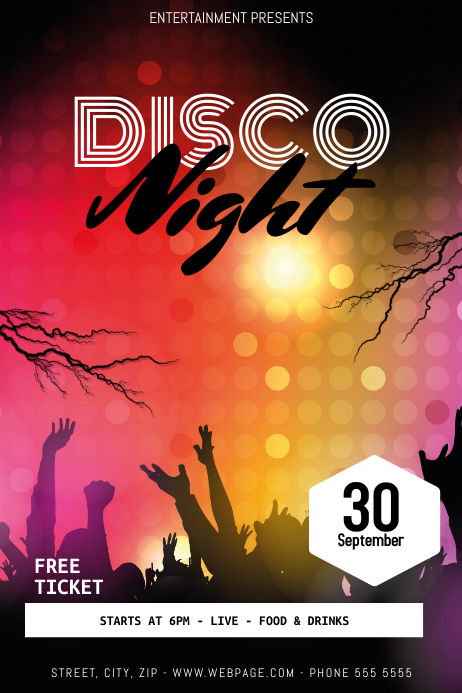 disco flyer template postermywall