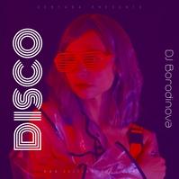 DJ Disco Retro CD Cover Art Techno House template