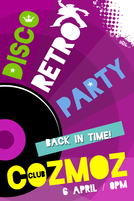 Disco Retro Party Poster