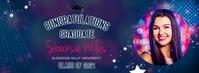 Disco themed virtual graduation party Faceboo Portada de Facebook template